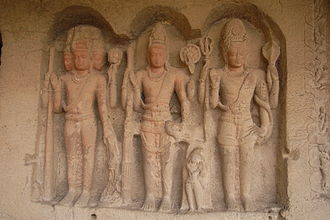 Trimurti - The Trimurti at Ellora