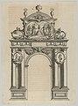 Triumphal arch, from 'Éloges et discours sur la triomphante réception du Roy en sa ville de Paris ...' by Jean-Baptiste de Machault MET DP855538.jpg