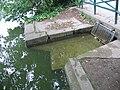 Trop plein lac des Minimes Paris alimentant un des ruisseaux du bois de Vincennes.JPG