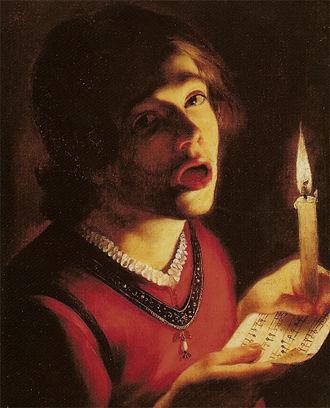 Trophime Bigot - Singer with a Candle, Trophime Bigot. Galeria Doria Pamphili, Rome.