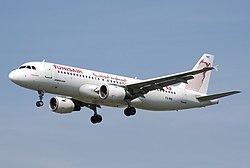 Tunisair Airbus A320-200.