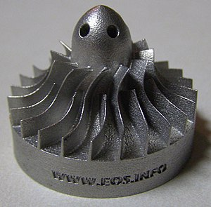 English: Miniature turbine 3D print from Rapid...