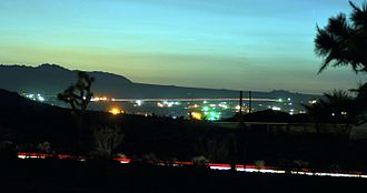 Landers, California - Long exposure photo of Landers at evening twilight.