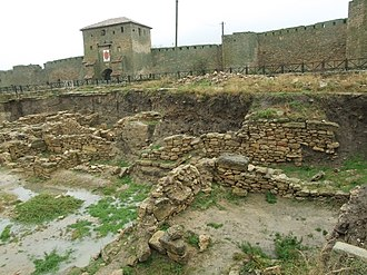 Tyras - Remains of Roman Tyras, near the mediaeval Genoese walls of the Maurocastro.