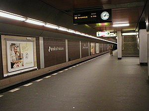 U8 (Berlin U-Bahn) - Pankstraße's other purpose as an emergency shelter is hardly discernible