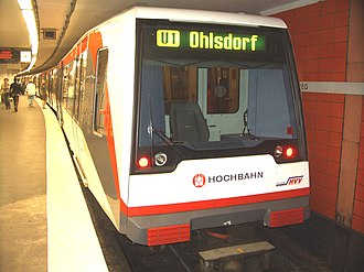 Rapid transit in Germany - U-Bahn at Jungfernstieg station in Hamburg