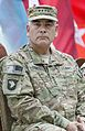U.S. Army Gen. John F. Campbell listens to a speaker during the International Security Assistance Force and U.S. Forces-Afghanistan change of command ceremony Aug. 26, 2014, in Kabul, Afghanistan 140826-D-HU462-615.jpg