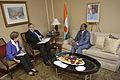 U.S. Deputy Defense Secretary Bob Work, center, meets with Niger's President Mahamadou Issoufou in Washington, D.C 140807-D-NI589-024.jpg