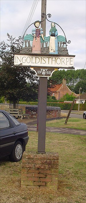 Ingoldisthorpe - Village sign for Ingoldisthorpe