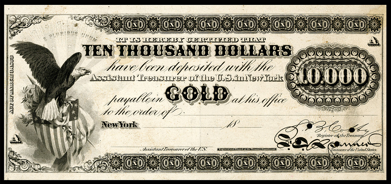 Gold certificate - Wikiwand