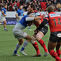 USO - Saracens - 20151213 - Tackle on Pedrie Wannenburg.jpg