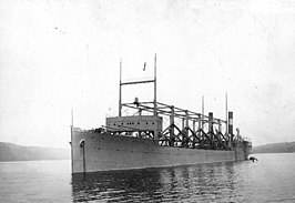 De USS Cyclops in de Hudson, 1911.