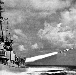 USS Gyatt - Gyatt launching a Terrier missile.