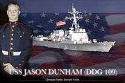 USS Jason Dunham (DDG-109) announcement graphic