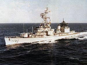 USS Johnston (DD-821) underway c1969