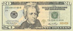 United States twenty-dollar bill - Image: US $20 Series 2006 Obverse