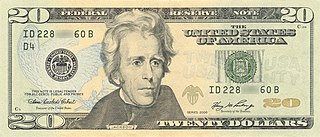 United States twenty-dollar bill Current denomination of United States currency