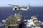 US Navy 030124-N-8794V-006 SH-60 Sea Hawk supporting underway replenishment.jpg