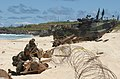 US Navy 040718-N-6551H-223 U.S. Marines assigned to 3rd Battalion, 3rd Marine Regiment and their Amphibious Assault Vehicles (AAV) on the beach at Pyramid Rock following a mechanized raid in support of exercise Rim of the Pacif.jpg