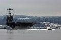 US Navy 070116-N-1683M-001 Nimitz-class aircraft carrier USS John C, Stennis (CVN 74) steams out of Naval Base Kitsap Bremerton starting a scheduled seven-month deployment.jpg