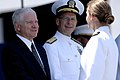 US Navy 070525-N-3642E-405 Secretary of Defense (SECDEF) the Honorable Dr. Robert M. Gates congratulates a newly commissioned Ens.jpg