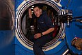 US Navy 090904-N-8119A-004 Machinist's Mate Fireman Apprentice Kyle Ketron passes through one of the three watertight doors aboard the ballistic-missile submarine USS Henry M. Jackson (SSBN 730).jpg