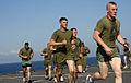 US Navy 100203-N-7653W-137 Marines jog aboard USS Fort McHenry.jpg