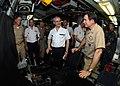 US Navy 100514-N-7705S-062 Vice Adm. John J. Donnelly shows Vice Adm. Jean-Francois Baud the control room aboard USS Scranton (SSN 756).jpg