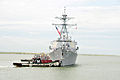 US Navy 110511-N-QY430-114 The guided-missile destroyer USS Mitscher (DDG 57) departs Naval Station Norfolk. Mitscher is deploying as part of the G.jpg