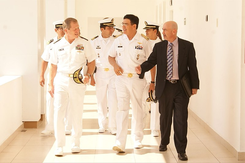 File:US Navy 111108-O-ZZ999-002 Rear Adm. Jonathan White, Rear Adm. Romel M. Perez and Eric Villalobos talk during a visit to Veracruz, Mexico.jpg