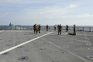 US Navy 111228-N-KS651-357 Marines exercise on the flight deck.jpg