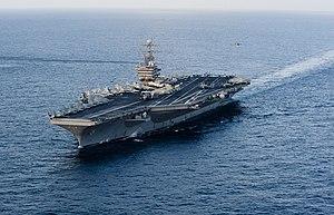 US Navy 120119-N-OY799-029 The Nimitz-class aircraft carrier USS Abraham Lincoln (CVN 72) transits the Arabian Sea.jpg
