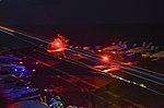 US Navy 171109-N-KR702-036 Night operations aboard USS Nimitz in the Philippine Sea.jpg