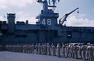 USS Saipan Cadets tour 1956 B Pensacola