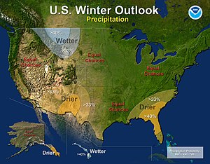 2013–14 North American winter - Precipitation Outlook