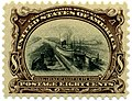 US stamp 1901 Pan Am 8c Canal Locks at Sault de St Marie.jpg