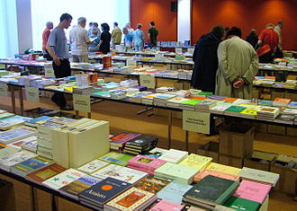 Esperanto - Esperanto books at the World Esperanto Congress, Rotterdam 2008.