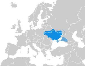 Ukrainian State - Image: Ukrainian State 1918. Europe
