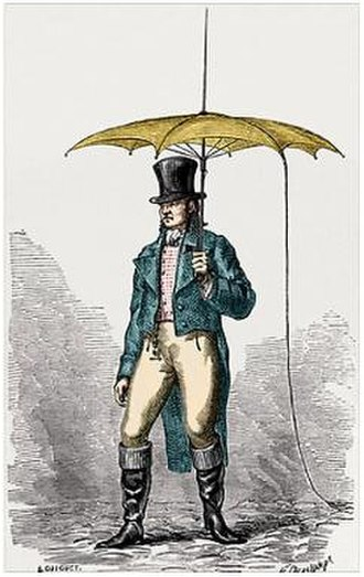 Jacques Barbeu-Dubourg - Image: Umbrella fitted with lightning conductor