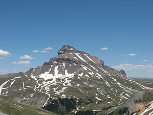 Uncompahgre Peak - Uncompahgre Peak from the west
