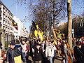 United Belgium Brussels demonstration 20071118 DMisson 00011 boulevard du Regent Flemish flags near American embassy.jpg