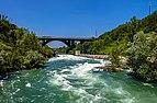 Upstream view of River Adda from Crespi-Trezzo footbridge.jpg
