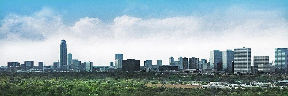 The Uptown Houston skyline