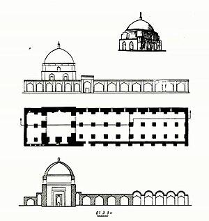Jameh Mosque of Urmia - Image: Urmiya Cümə məscidinin planı 001