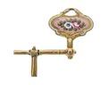 Urnyckel i guld och emalj med blomstermotiv, 1700-tal - Hallwylska museet - 110354.tif