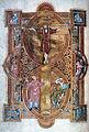 Uta Codex, Evangeliary Symbolic Crucifixion of Christ ca. 1020.JPG