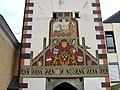 Vöcklabruck Oberer-Stadtturm Wappen1503.jpg
