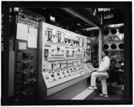 VIEW OF THE ANION EXCHANGE CONTROL PANEL. (2-16-66) - Rocky Flats Plant, Plutonium Recovery and Fabrication Facility, North-central section of plant, Golden, Jefferson County HAER COLO,30-GOLD.V,1N-14.tif