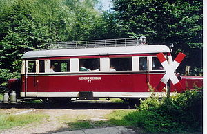 Wismar railbus - T2 of the Bleckede Kreisbahn (Type C) on the Schönberg–Schönberger Strand museum railway
