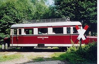 Wismar railbus - T2 of the Bleckede Kreisbahn (Type C) on the Schönberg–Schönberger Strand museum railway